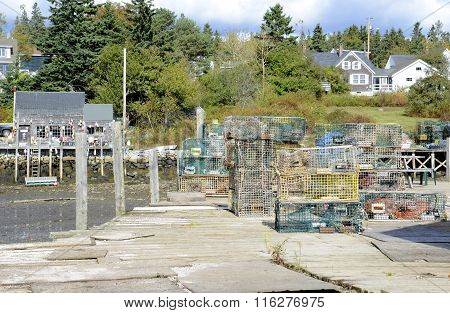 Many Old Lobster Cages