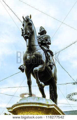 Statue Of Philipp Iii At The Plaza Mayor