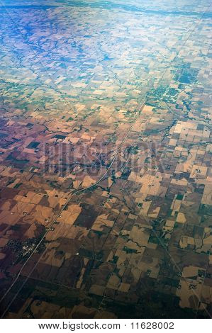 Bird's Eye View Of Mid-west United States