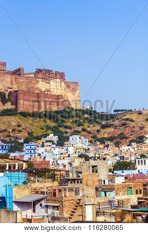 A View Of Jodhpur, The Blue City Of Rajasthan