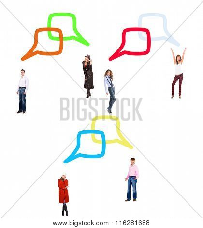 Isolated Groups Speech Bubbles