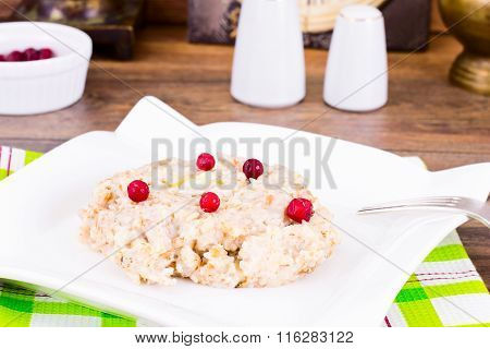 Oatmeal Cranberry Health Diet Food