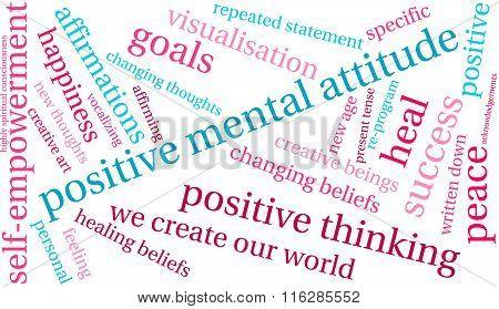 Positive Mental Attitude Word Cloud