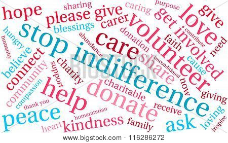 Stop Indifference Word Cloud