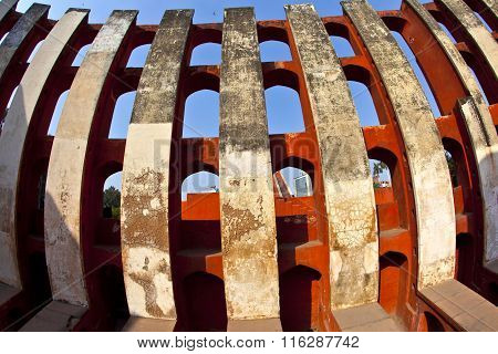 famous Astronomical observatory Jantar Mantar in Delhi