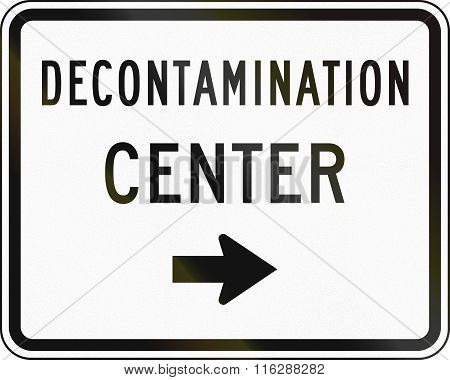 United States Mutcd Emergency Road Sign - Decontamination Center