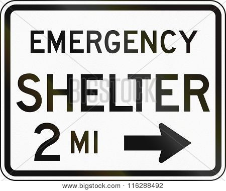 United States Mutcd Emergency Road Sign - Emergency Shelter