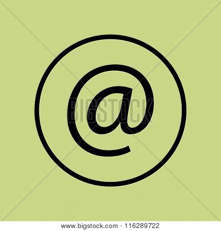 Email Icon On Circle Background