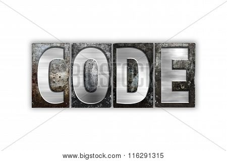 Code Concept Isolated Metal Letterpress Type