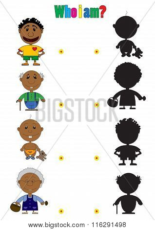 Illustration Of African Characters For The Children's Book