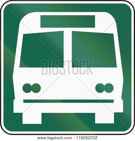 United States Mutcd Road Sign - Bus Area Or Bus Stop