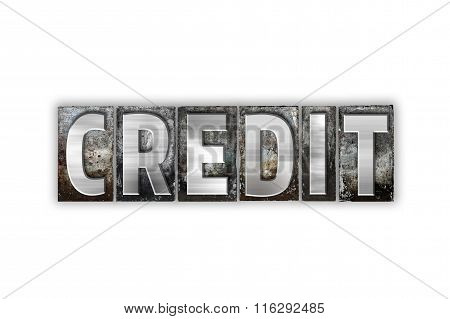 Credit Concept Isolated Metal Letterpress Type