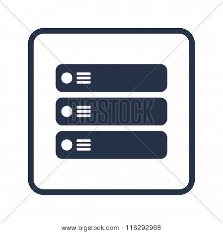 Server Icon On Rounded Rectangle Background