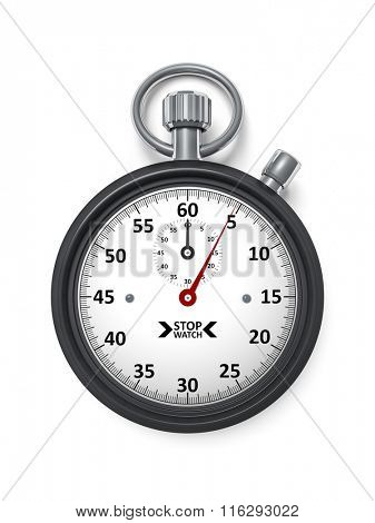 An image of a black typical stopwatch