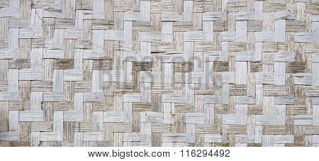 Wall Of Plaited Bamboo Strips Square Vernecular Outdoor
