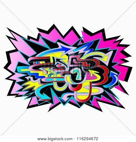 Graffiti Arrows Designs. Vector Illustration.