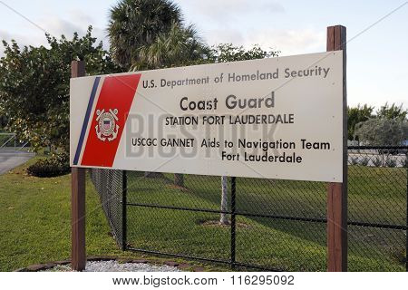 Coast Guard Station Sign