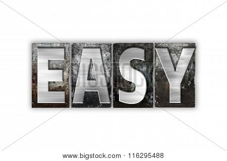 Easy Concept Isolated Metal Letterpress Type