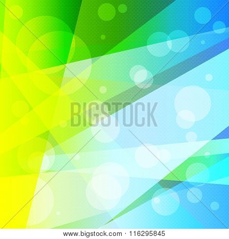 Bright Psychedelic Abstract Geometric Colorful Background Vector Illustration