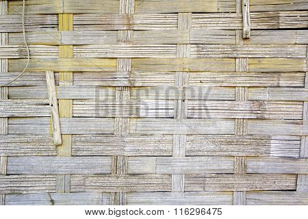 Woven Bamboo Strips Wall Vernecular