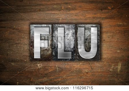 Flu Concept Metal Letterpress Type