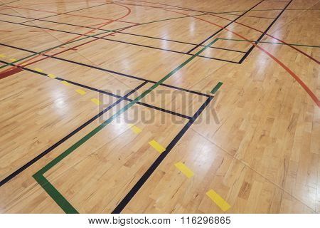 Multisport floor in old gymhall