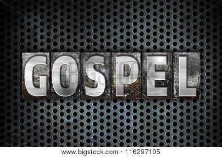 Gospel Concept Metal Letterpress Type