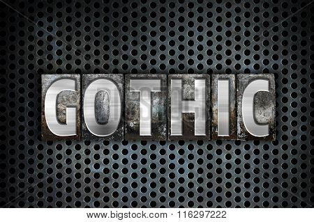 Gothic Concept Metal Letterpress Type