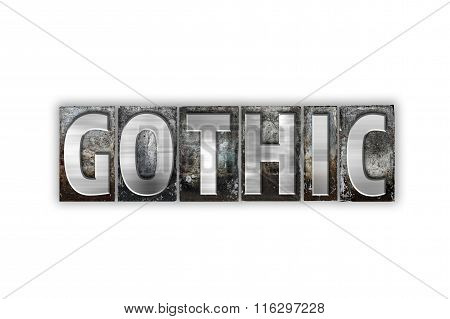 Gothic Concept Isolated Metal Letterpress Type