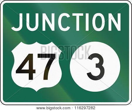 United States Mutcd Guide Road Sign - Junction