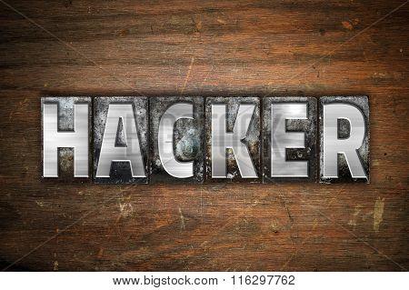 Hacker Concept Metal Letterpress Type