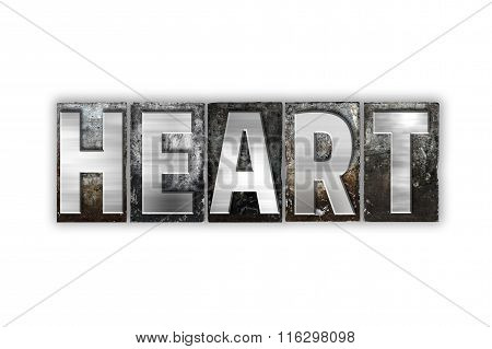 Heart Concept Isolated Metal Letterpress Type