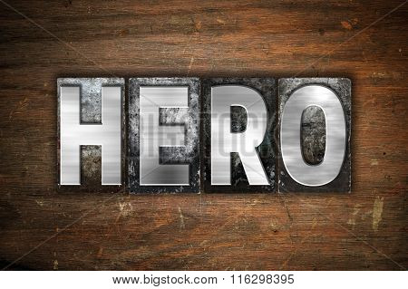 Hero Concept Metal Letterpress Type