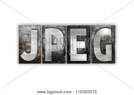 Jpeg Concept Isolated Metal Letterpress Type
