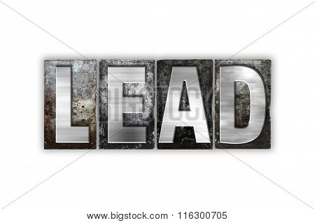 Lead Concept Isolated Metal Letterpress Type