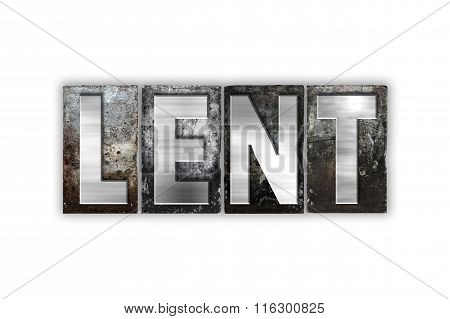 Lent Concept Isolated Metal Letterpress Type