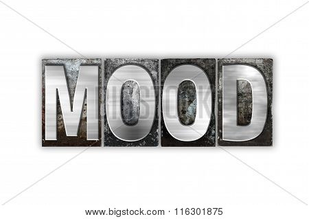 Mood Concept Isolated Metal Letterpress Type
