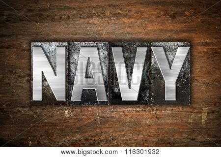 Navy Concept Metal Letterpress Type