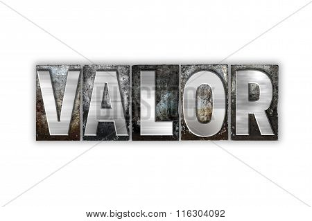 Valor Concept Isolated Metal Letterpress Type