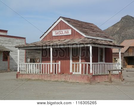 Wooden Gas Station Building