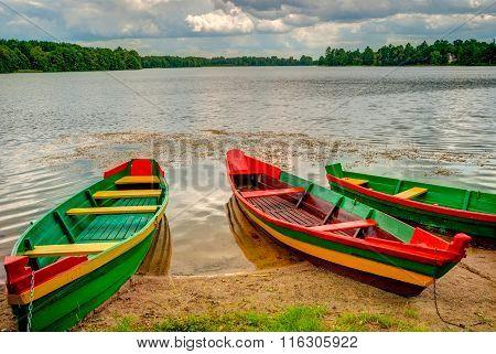 Boats By The Lake, Trakai, Lithuania