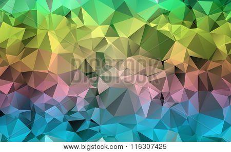 Multi-color polygonal illustration. Geometric background. Triangular design in vector.