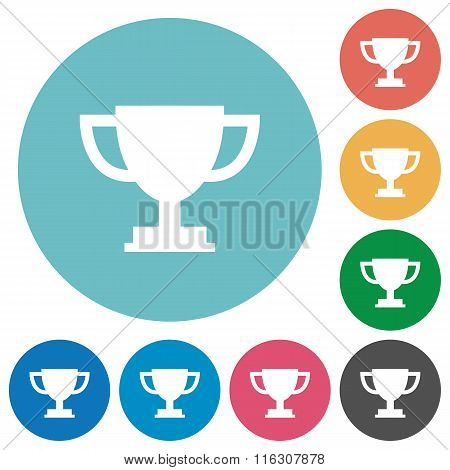Flat Trophy Cup Icons