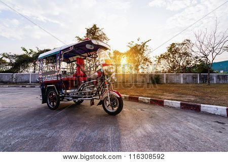 Thai Traditional Taxi In Tak Province Thailand.