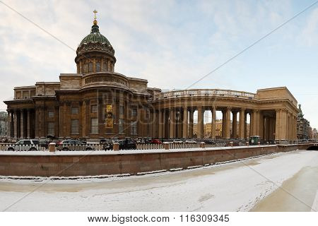 St. Petersburg. Kazan Cathedral. Griboyedov Canal.
