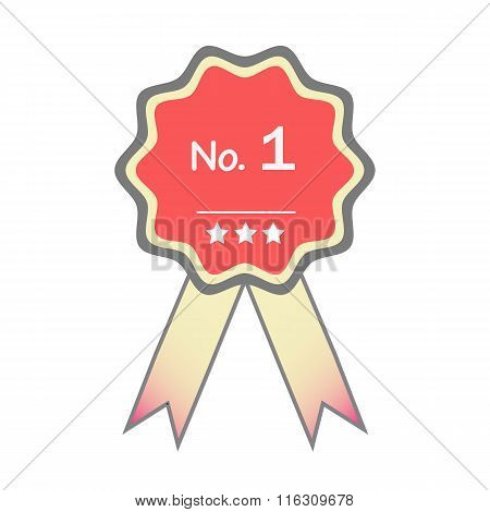 Number 1 winner ribbon