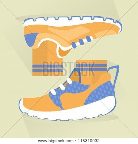 Sports Shoes Icon Design.
