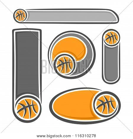 Set background images for the text on the basketball theme