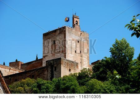Castle watchtower, Alhambra Palace.