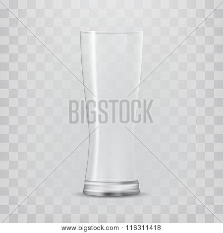 Transparent glass goblets.
